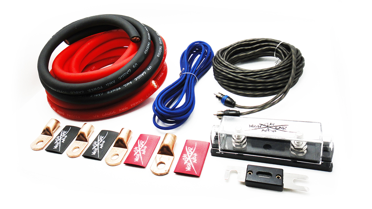Sky High Car Audio 0awg Cca Wiring Kit Bladeice Installation Kits Code Shca Oversized Amplifier