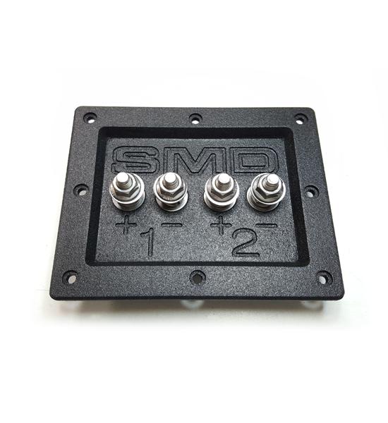 """Black SMD 4 Channel Heavy Duty Speaker Terminal 3//4/"""" PVC Grade 8"""