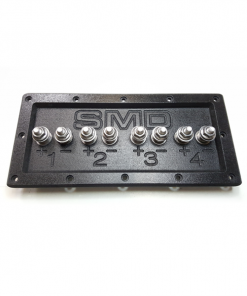 "3//4/"" PVC Black Stainless Round SMD 1 Channel Heavy Duty Speaker Terminal"