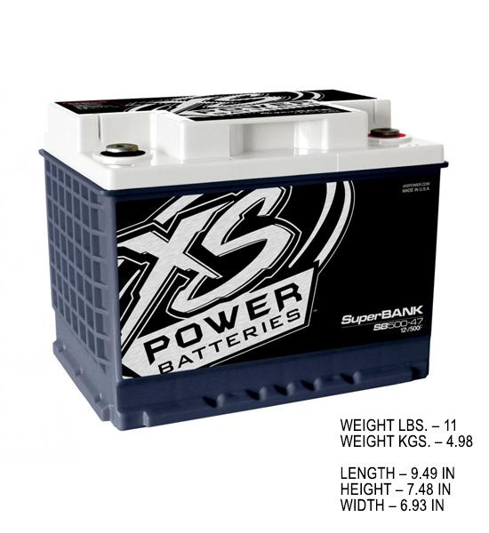 XS Power SuperBank 12V SB-500 (Ultra Capacitor)